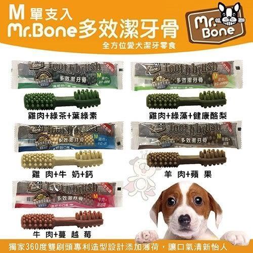 『寵喵樂旗艦店』Mr.Bone《多效潔牙骨M號單支入-五種口味可選擇》單支入 犬適用