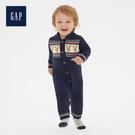 Gap男嬰兒可愛麋鹿一體式針織連體服513680-海軍藍色
