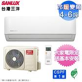台灣三洋4-6坪時尚一級變頻冷暖分離式冷氣 SAE-V28HF+SAC-V28HF~含基本安裝+舊機回收