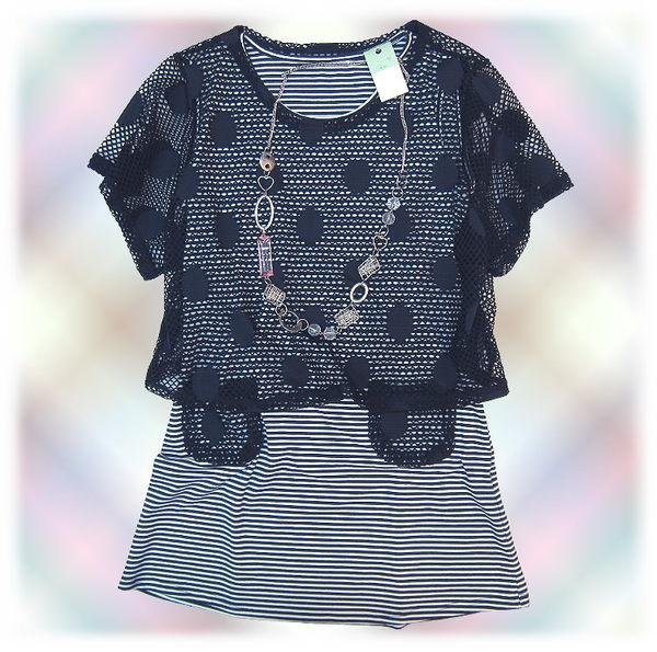 【波克貓哈日網】二件式長版上衣◇ LUPICOLE ◇《罩衫+長版背心》