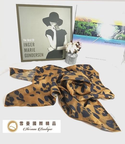 【雪曼國際精品】Blugirl 豹紋65cm X73cm 絲巾 材質絲─二手商品 (9成新)