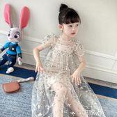 好康618 洋裝兒童連身裙刺繡蕾絲網紗公主裙
