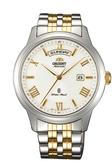 [Y21潮流精品] 新款!ORIENT 東方錶 Classic Design系列 日期顯示機械錶 白色 鋼帶款