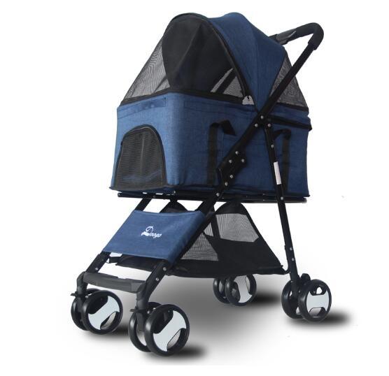 寵物推車分離式狗推車可摺疊輕便分離式四輪寵物車中小型犬通用ATF 格蘭小舖