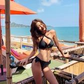 韓版新款bikini鋼托聚攏性感顯胸低腰三點式比基尼溫泉分體女泳衣