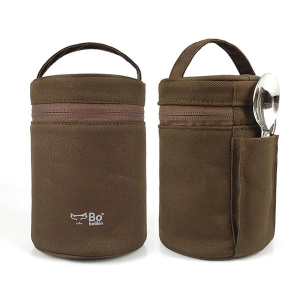 杯套 膳魔師象印虎牌燜燒杯套保溫杯套通用燜燒罐保護套帶拉鏈款手提袋 宜品