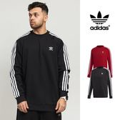 【GT】Adidas Originals 黑紅 大學T 衛衣 運動 休閒 棉質 長袖 上衣 愛迪達 三葉草 基本款 Logo