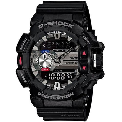CASIO G-SHOCK/音樂隨我行運動錶/GBA-400-1ADR
