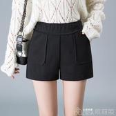短褲    外穿寬管靴褲韓版寬鬆顯瘦秋季高腰短褲女 歌莉婭