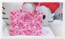 ♥小花花日本精品♥Hello Kitty 提袋手提袋小手提袋提袋外出袋便當袋小物袋滿版圖粉色41011201