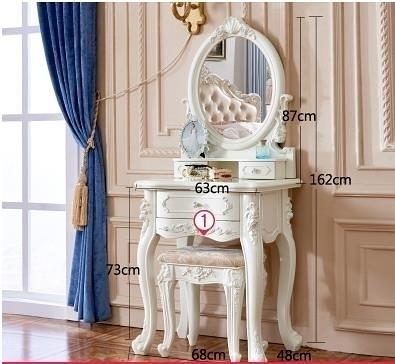 化妝櫃  歐式臥室小戶型迷你化妝桌 多功能現代簡約化妝台白色烤漆