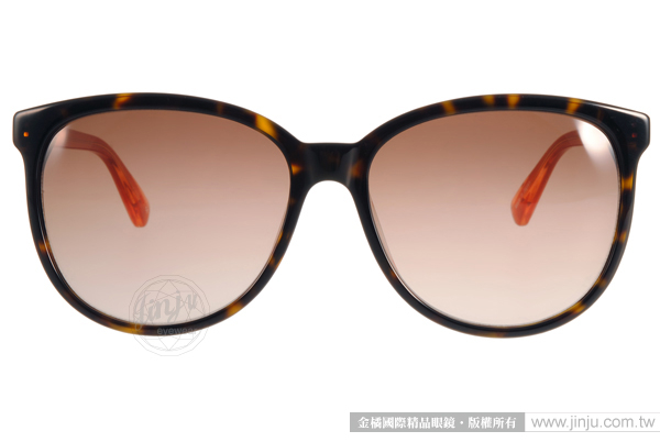Anna Sui 太陽眼鏡 AS965 C127 (琥珀-橘) 簡約LOGO貓眼款 # 金橘眼鏡
