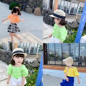 藍小爸2019新款洋氣女童娃娃衫夏季薄款寶寶襯衫韓版休閒百搭上衣 嬌糖小屋