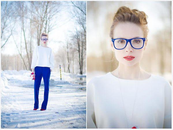 【金橘眼鏡】歐美復古鉚釘墨鏡►時尚型人必備款(海洋湛藍色)