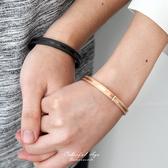 手鍊 磨砂感線條鋼製手環【NA422】單個