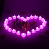 LED電子蠟燭燈浪漫驚喜求婚創意布置用品生日表白心形蠟燭情人節 名購居家