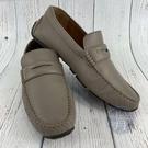 BRAND楓月 BALLY貝利 淺灰色 經典 全皮 皮革 皮鞋 平底鞋 舒適 男鞋 休閒 外出 US7.5