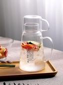 冷水壺玻璃家用涼水杯加厚耐熱高溫防爆透明大容量套裝大號瓶扎壺