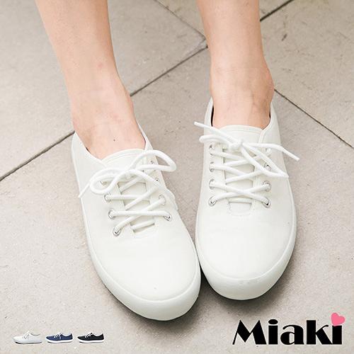 休閒鞋美式素面校園風綁帶平底包鞋 (MIT)