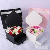 新款開窗翻蓋透明香皂花禮盒包裝盒圍巾手套禮物盒子情人節禮品盒 js20935『小美日記』