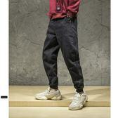 男牛仔褲 單寧男工裝褲休閒褲運動褲大碼休閒寬管褲男褲子【非凡上品】cx6884
