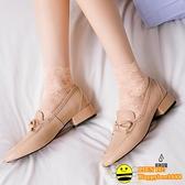 5雙| 短襪船襪隱形淺口襪高筒薄款網紗日系可愛蕾絲襪子女【happybee】