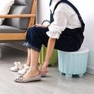 北歐風多功能創意換鞋收納凳儲物凳可坐人圓凳兒童玩具塑料小凳子  熊熊物語