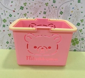 【震撼  】Rilakkuma San X 拉拉熊懶懶熊手提收納盒粉18907