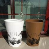 仿陶瓷大花盆高筒圓型山水敞口塑料綠植盆栽【英賽德3C數碼館】