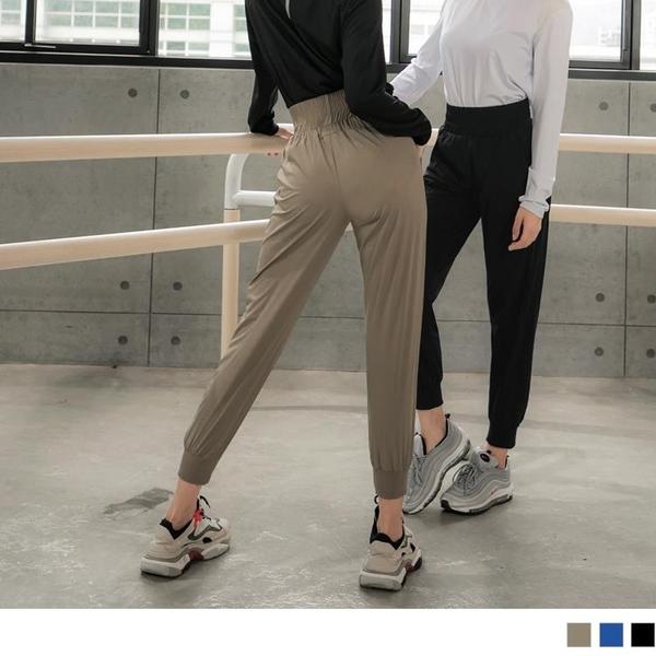 《KS0749》防潑水腰鬆緊褲管羅紋拼接運動燈籠褲 OrangeBear