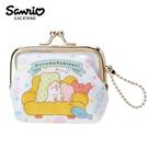 白色款【日本正版】拖把小熊 拖把熊 珠扣包 零錢包 防潑水 小物收納 三麗鷗 Sanrio - 054735