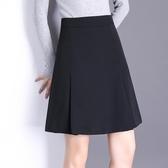 半身裙女A字裙短裙春秋黑色高腰西裝2020年春季新款正裝職業裙子 後街五號