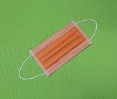 出清特價79元 雨晴牌-三層防塵不織布口罩@成人-亮橙橘@台灣製盒裝 一盒50片 防塵用 無痛耳帶