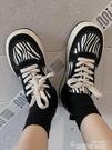運動帆布鞋子女2021新款小眾原創棉鞋女冬加絨學生百搭ins潮板鞋 韓國時尚 618
