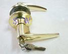 廣安牌LH700 水平鎖 60 mm 金色 (有鑰匙) 管型扳手鎖 水平把手 客廳鎖 板手鎖 辦公室 臥室門用