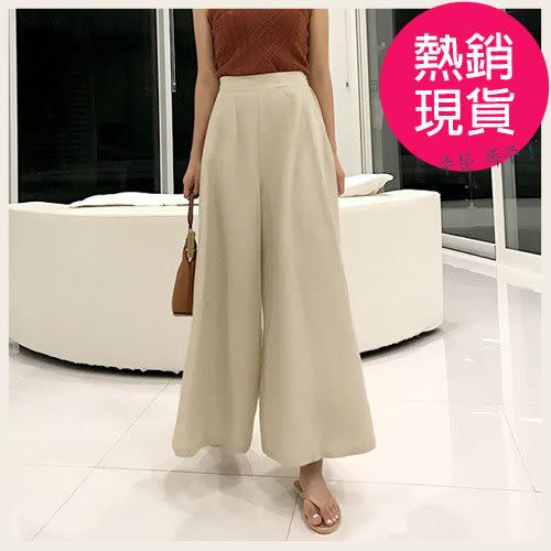 慵懶假裙高腰寬褲。正韓國空運。0614!STYLEON!現貨 米S