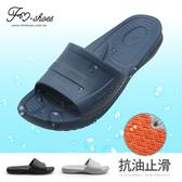 拖鞋-專業浴室防水防油拖鞋(深藍)-MEN-FM時尚美鞋.Cream