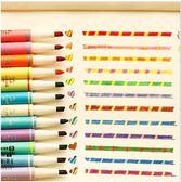 【筆紙膠帶】雙頭變色熒光筆 可愛 標記筆 油性 水彩 記號筆 魔幻筆