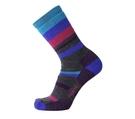 [好也戶外] Point6 Hiking mixed stripe medium crew美麗諾羊毛襪/紫/灰/條紋紫 No.1567