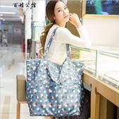 行李包提購物袋便攜防水帆布側背旅行包