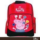imitu【Peppa Pig 粉紅豬】兩用護脊後背書包(梅紅)佩佩豬(PP5807A)