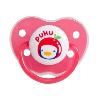 PUKU 藍色企鵝 水果拇指型較大安撫奶嘴(較大型) 商品貨號:P10329-324【富山】特價8折