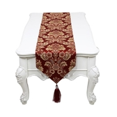 桌旗現代簡約時尚美式歐式新中式餐桌布藝電視柜床旗茶幾桌旗布 聖誕交換禮物