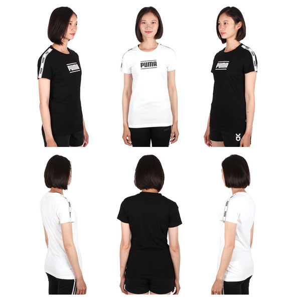 PUMA 女基本系列Camo短袖T恤(慢跑 路跑 免運 ≡排汗專家≡