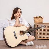 民謠吉他41寸合板初學者木吉他男女學生入門吉它新手練習自學樂器 GD799『黑色妹妹』
