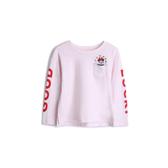 Gap女幼童GapxDisney迪士尼系列套頭T恤519091-混色粉