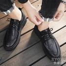 男士皮鞋韓版潮流百搭商務正裝休閒潮鞋內增高英倫西裝 【快速出貨】