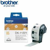 BROTHER 定型標籤帶 23*23mm 白底黑字 DK-11221
