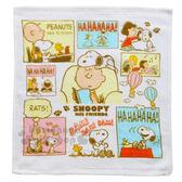 〔小禮堂〕史努比 純棉方形毛巾《白.漫畫.查理布朗》35x35cm 4580468-25945