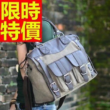 帆布包-環保好搭潮流可肩背男手提包1色59j52【巴黎精品】